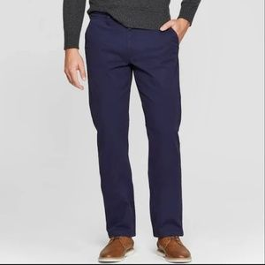 Goodfellow & Co Navy Straight-Fit Chinos 30x32